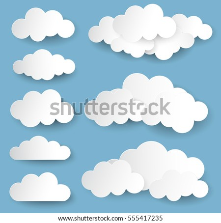 Vector Illustration Clouds Collection Stock Vector
