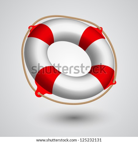 Vector illustration of Life Buoy . - stock vector