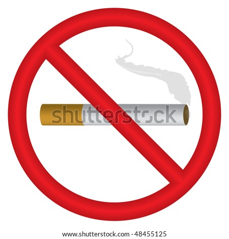 "Vector illustration of ""no smoking"" symbol"
