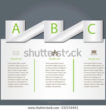 Vector illustration of options banner for web design - stock vector
