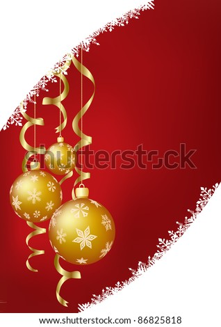 vector illustration of the christmas decoration - stock vector