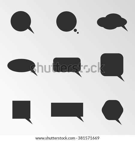 Vector illustration on the theme speech bubbles