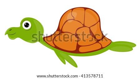 vector illustration sea turtle - stock vector