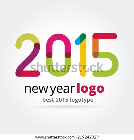 2015 vector logotype isolated on white background - stock vector