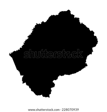 Lesotho Map Details Vector Map of Lesotho With