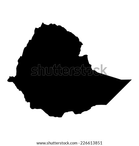 vector map of map of Ethiopia with high details - stock vector