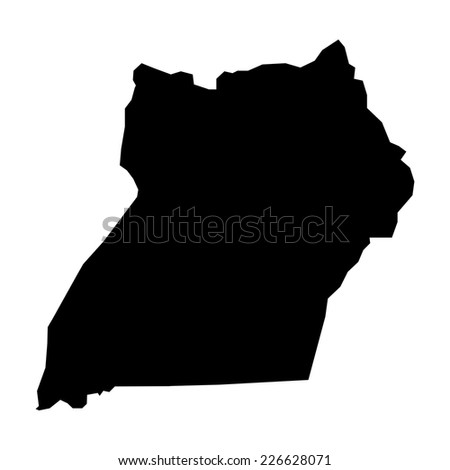 vector map of map of Uganda with high details - stock vector