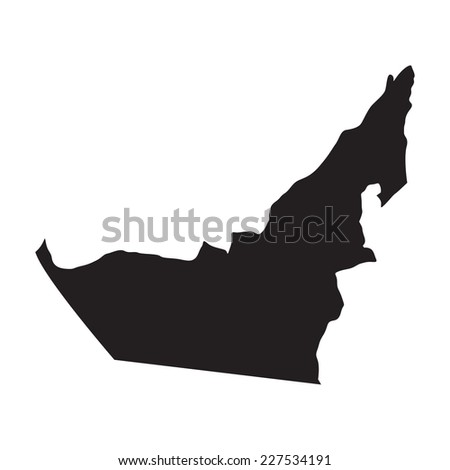vector map of United Arab Emirates with high details - stock vector