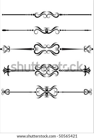 vector ornamental rules - stock vector