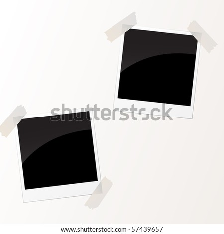 vector photos with tape - stock vector