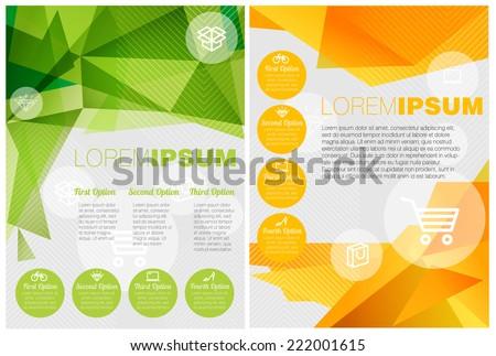 Vector presentation minimalist flat design templates. - stock vector