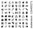 64 Vector School And Education Icons Set for web and mobile. All elements are grouped. - stock photo