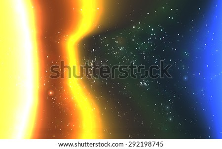 Vector space background - stock vector