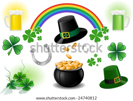 Vector St. Patrick's Day design elements. - stock vector