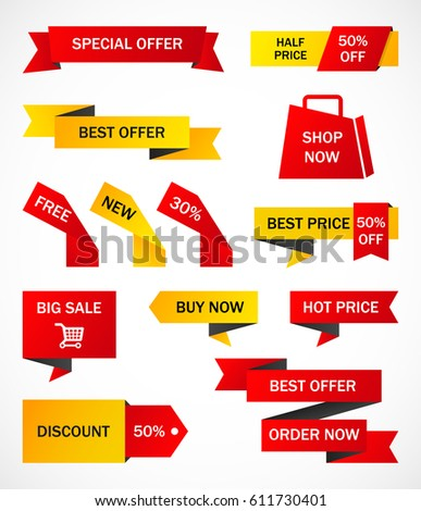 vector stickers price tag banner label stock vector 633039098