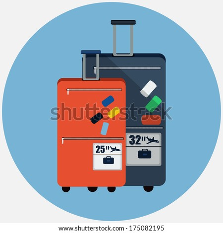 Vector travel bags  - stock vector
