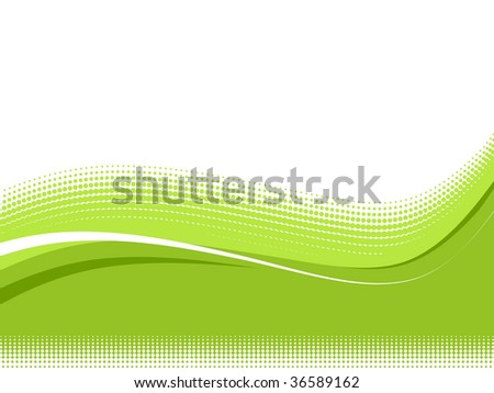 vector wave halftone with sample text background - stock vector