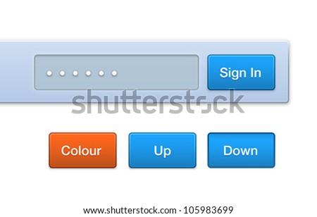Vector Web Button Set - stock vector