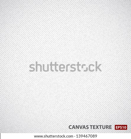 vector white canvas background texture. - stock vector