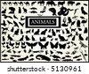 120 vectors of animals - stock vector