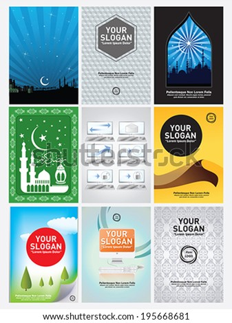 9 vertical banner and poster - stock vector
