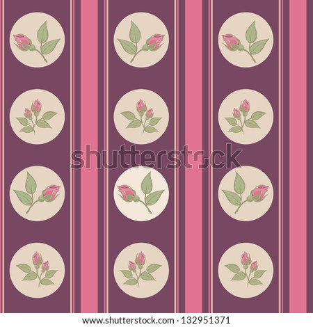 Vintage background with pattern - stock vector