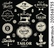 Vintage design elements. Set of retro labels, badges and icons - stock vector