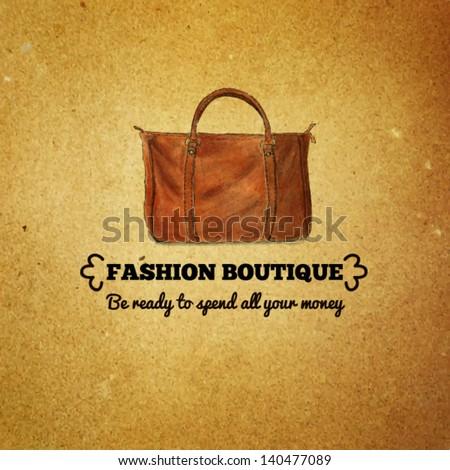 Vintage template for fashion boutiques and shops - stock vector