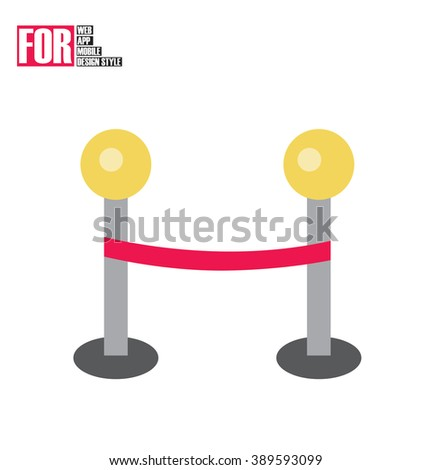 Waiting line icon - stock vector