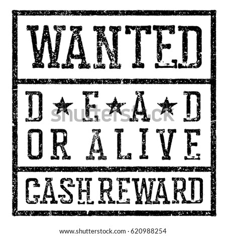 Wanted Poster Design Template Aging Texture Stock Vector 620988254 ...