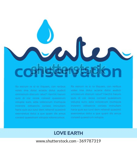 Water conservation-concept vector - stock vector