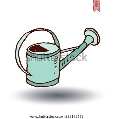 watering can, vector illustration. - stock vector