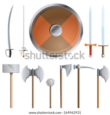 weapons, vector illustration - stock vector