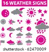 16 weather signs. vector - stock vector