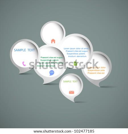 Web design speech bubbles. Vector set - stock vector