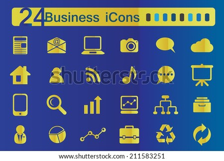 24 web icons for business