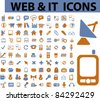 100 web & icons, signs, vector illustrations - stock vector