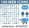100 web icons, vector - stock vector