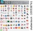 101 web icons,Vector illustration - stock vector
