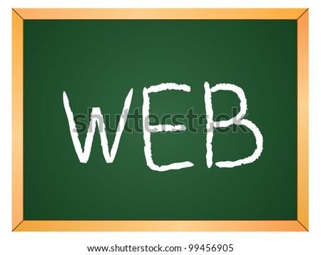 """""""web"""" word written on chalkboard - stock vector"""