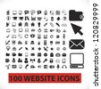 100 website icons set, vector - stock vector