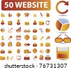 40 website icons, signs, vector illustrations - stock photo