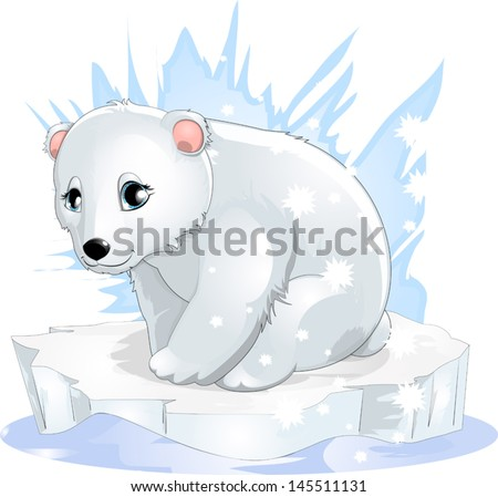 white bear - stock vector