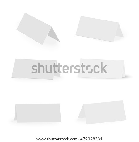 Blank Table Card Stock Photos, Royalty-Free Images & Vectors
