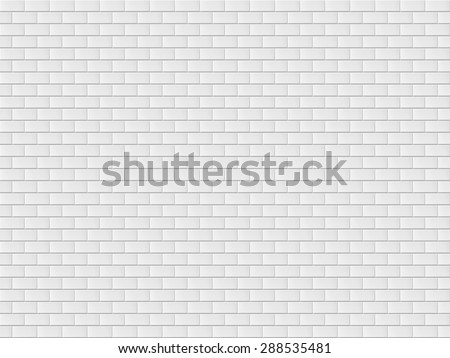 white brick wall vector illustration - stock vector