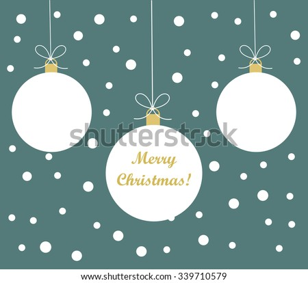 White Christmas  baubles background. Vector illustration