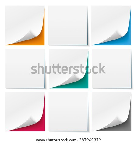 9 white sticks with colored background. Eps 10 vector file. - stock vector