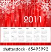2011 winter calendar - stock vector
