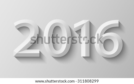 2016 with bevel - stock vector