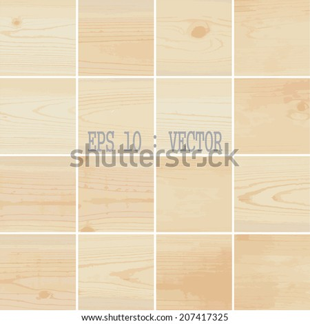 16 Wood pattern background, Vector EPS 10. - stock vector